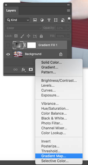 using a gradient map in photoshop