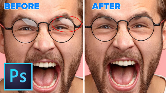 remove glare from glasses in photoshop , photography tutorials in photoshop