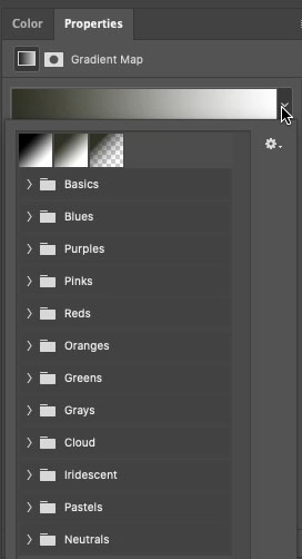 Gradients in photoshop