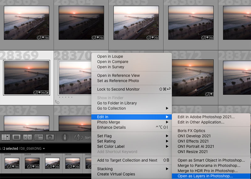 open multiple photos in lightroom