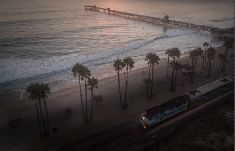 light the train and the surfliner