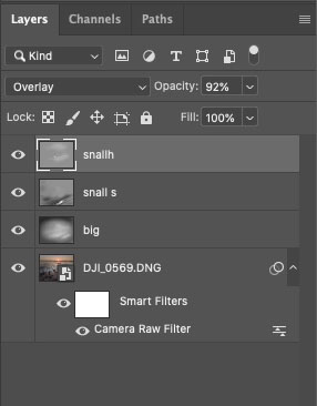 Photoshop toning layers