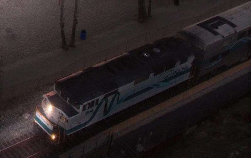 add rim light to the train