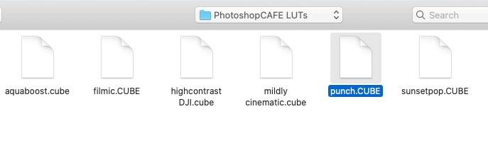 the free PhotoshopCAFE LUTs