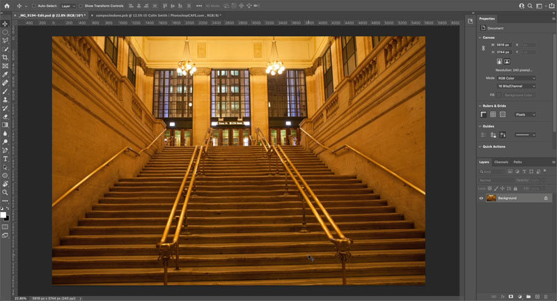 Hidden button to instantly fix color of photo in photoshop