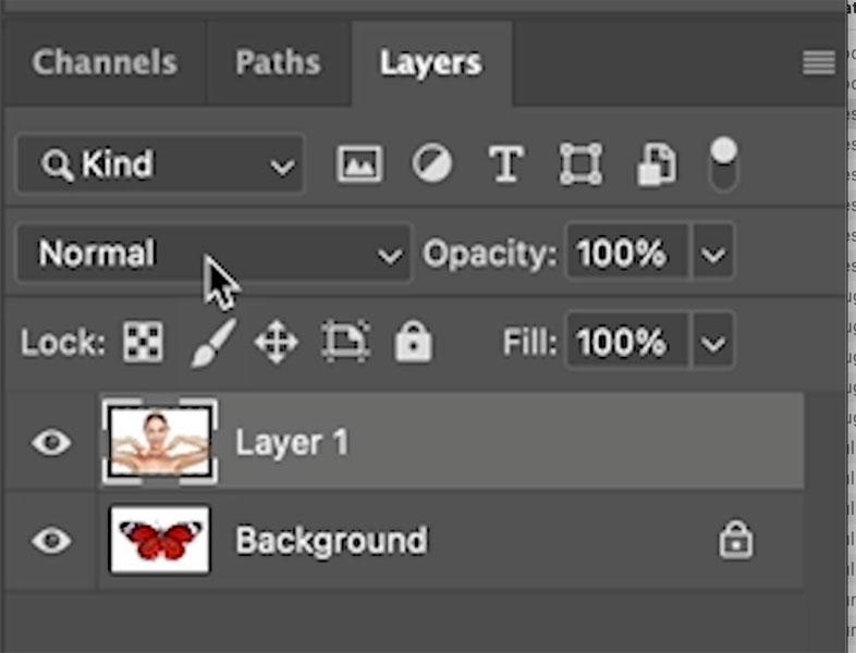 change layer blending mode