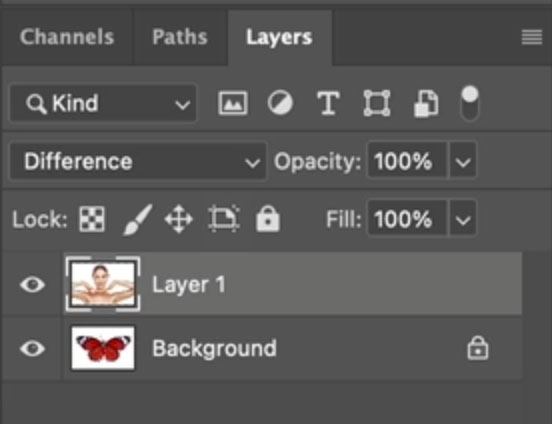 stack layers in photoshop