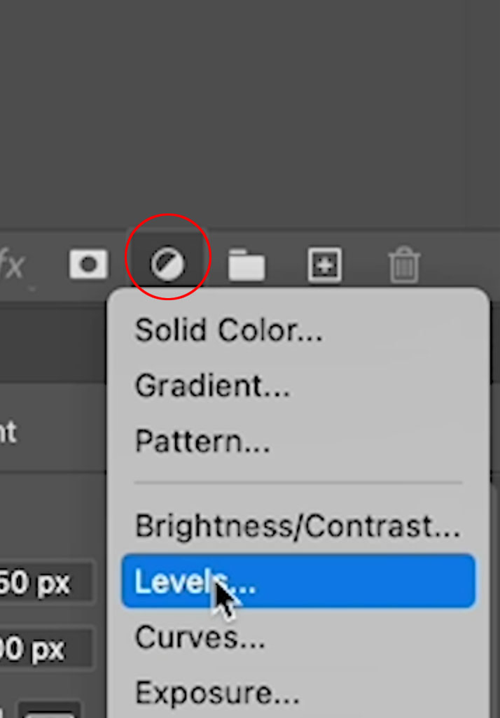 levels adjustment layer in photoshop
