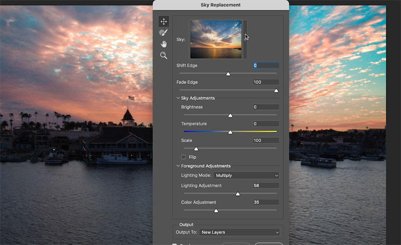 Change the sky in photoshop