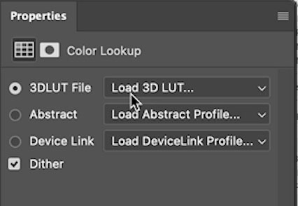 load lut in photoshop
