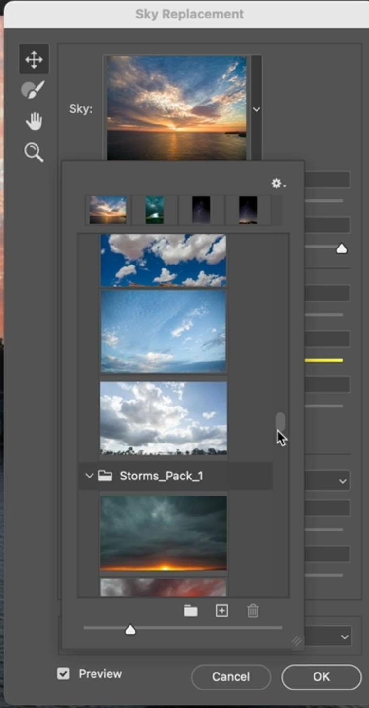 adding cloud photos to photoshop