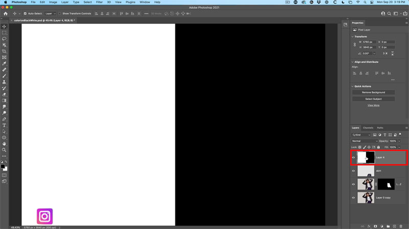 How to change white to color in Photoshop, and colorize black