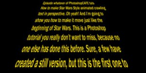 How to Create Animated Star Wars Perspective text effect in Photoshop tutorial