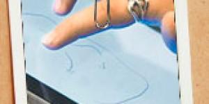 Finger painting with  Susan Murtaugh