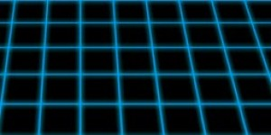 Tron Perspective Grid glowing lines Photoshop Tutorial
